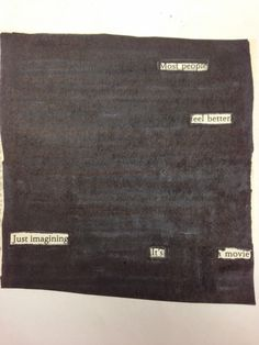 Blackout poetry. So easy, so powerful!