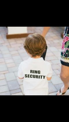 Cute ring bearer idea!♥. Rhys is in a cousins wedding in April :-)