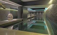 ** Luxuries indoor designer swimming pool.