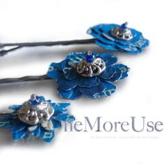 Bobby Pin Set: recycled upcycled fused plastic by OneMoreUse