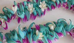 Jade/ tuberose/orchid lei from Lin's Lei Shop, Downtown, Oahu
