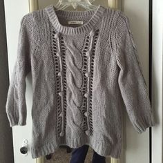 Old Navy sweater Super warm and soft quarter length arm sweater. There are ball details on the front and small detailed holes. Very cute! Old Navy Sweaters Crew & Scoop Necks