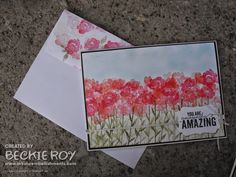 Artistic Embellishments: Painted Petals: A Field of Flowers