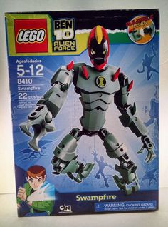 Lego Ben Ten 10 Alien Force Swampfire 8410 Set NEW Discontinued 8410 #LEGO