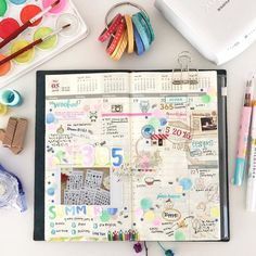 TN2016✿ I don't usually add photos on my Traveler's Notebook planner just because I don't want to make it harder for me to work on the pages towards the end of the notebook. Releasing the last stamp sets of 365 first season was a big milestone for us and I wanted to celebrate it on this page✨ • トラベラーズノートの手帳は厚くならないように極力、写真など凸凹するものを貼らないようにしていますが、この週は特別でした。365のシーズン1最後のサマーコレクションのリリース、とっても感慨深く、嬉しかったのを昨日のことのように覚えています ➖➖➖ ✒︎ Traveler's Notebook Vertical Planner ✒︎ #lalalalala2016