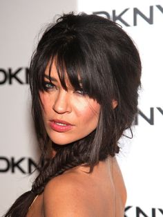 Jessica Szohr's crazy-long bangs are also crazy-sexy. If you can deal with obstructed vision, give this hot look a try.   - Cosmopolitan.com
