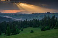 Sunset in the Carpathians. #poland