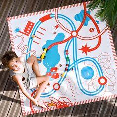 Deuz Tapikid Spielteppich Rot und Blau Rot