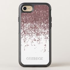 Girly Glamorous Faux Rose Gold Glitter White Ombre OtterBox Symmetry iPhone 8/7 Case