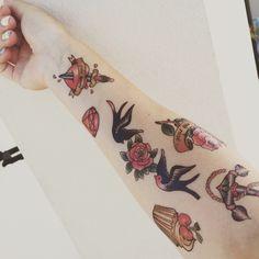 Old school Temporary Tattoo