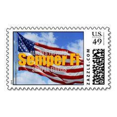 Semper Fi Patriotic Postage. This is customizable to put a personal touch on your mail. Add your photos or text to design your own stamp that can be sent through standard U.S. Mail. Just click the image to try it out!