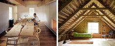 Rustic Loft, Rustic Dining Table: The Rustic Modernist: The Barn Life. via Messana O'Rourke | Elizabeth Dunker via Design*Sponge