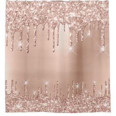 Shop Sparkly Glitter Drips Pink Rose Gold Blush Girly Shower Curtain created by luxury_luxury. Rose Gold Backgrounds, Rose Gold Wallpaper, Glitter Wallpaper, Gray Shower Curtains, Custom Shower Curtains, Rose Gold Glitter, Silver Roses, Glitter Shoes, Metallic Gold