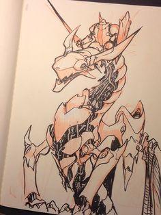 Nuthin' But Mech: Jake Parker Sketchbook Dump Design Reference, Drawing Reference, Art Sketches, Art Drawings, Robot Animal, Robot Concept Art, Creature Design, Artist At Work, Amazing Art