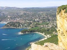 "Cassis seen from the ""route des Crêtes"""