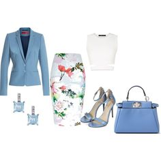 executive style by howard-simon on Polyvore featuring BCBGMAXAZRIA, HUGO, River Island and Fendi