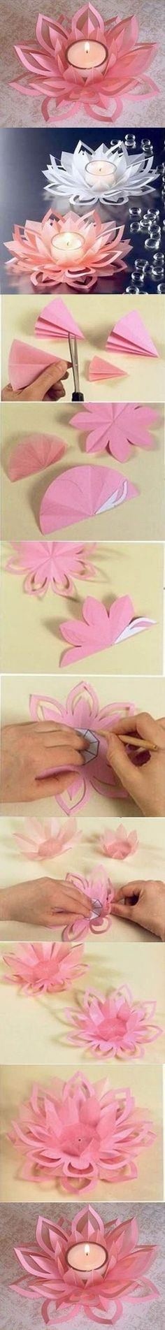 Beautiful DIY Candle Holders. Fun idea for a Spring party.