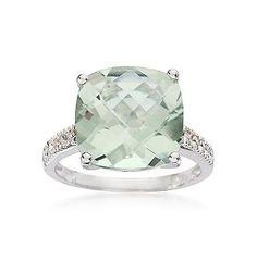 Light Green & Diamond Ring