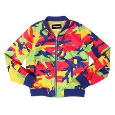 Dsquared2 camo-printed bomber jacket, $348 luisaviaroma.com