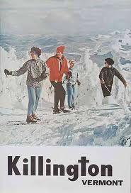 Vintage Killington ski poster