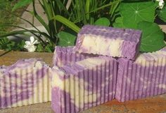 Lavender Cedarwood Moisturizing Bath Bar for men and women. Visit us at Luxuriously Natural Soaps