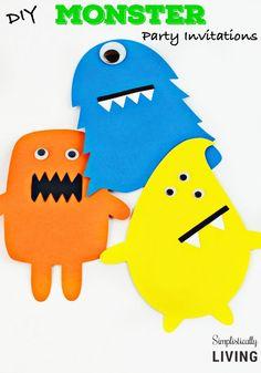 DIY Monster Party Invitations