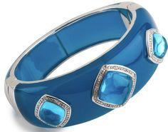Miriam Salat water blue faceted stone cuff - love!