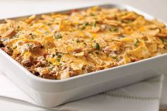 Serve a deliciously flavorful rice casserole dish at dinnertime tonight! The whole family will love trying this cheesy Tex-Mex Beef & Rice Casserole.