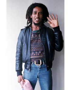 """gqstyle: """"The debut issue of GQ Style drops TOMORROW. And yes, there's a big feature on the life and styles of Bob Marley written by Marlon James. Image Bob Marley, Marlon James, Bob Marley Pictures, Gq Style, Gq Magazine, Fashion Photo, Bomber Jacket, Denim, Stylish"""