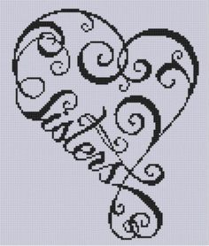 Sisters Heart Cross Stitch Pattern