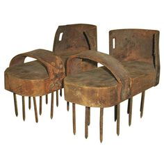 Size 12 1900 Primitive Soil Aeration Shoes | From a unique collection of antique and modern primitives at https://www.1stdibs.com/furniture/folk-art/primitives/