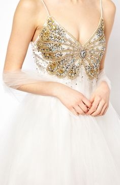 Sequin butterfly party/wedding dress