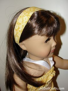 15 Minute Doll Headband Tutorial