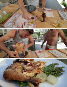 HGTV's Kitchen Cousins share their favorite recipe for beer-can chicken. #Food # Drinks