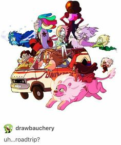 Even Bismuth and Jasper! Ahh! The whole team! (Plus some)