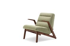 Rolf Benz 580 Armchair.  Walnut Frame.  Available in 2 back heights.