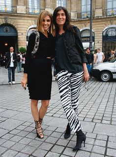 Carine Roitfield and Emmanuelle Alt