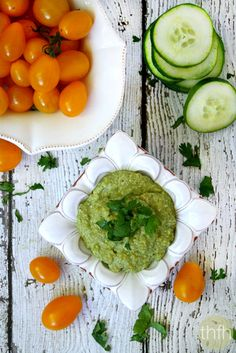 "Clean Eating ""Field of Greens"" Zucchini Hummus...raw, vegan, gluten-free, dairy-free 
