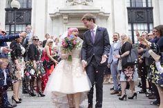 Gorgeous bride Victoria in her custom Mooshki Poppy dress.   Image by Luna Photography