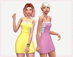 Sims 4 CC's - The Best: Ysabelle Dress by HoplesslyMiniatureSandwich