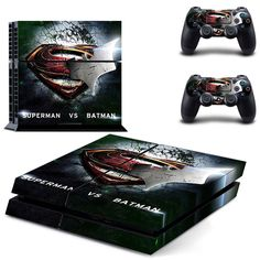 FREE SHIPPING! PS4 Superman Vs. Batman: Dawn of Justice DC Comic Skin Decal Stickers For Sony Playstation 4 Console  2 controllers
