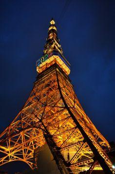 Tokyo Tower for 2020 Tokyo Olympic Games by Hiroshi Nakanishi, via 500px