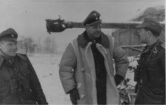 """SS-Obersturmbannfuhrer Heinz Harmel CO of the SS-Infanterie Regiment """"Deutschland"""" of the """"Das Reich Division"""".  Kharkov 1943"""