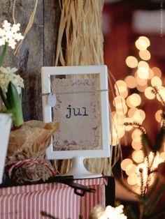 Christmas, bokeh, Ikea frame