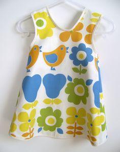 Baby and Toddler Pinafore Dress Sewing Pattern, PDF Tutorial (sizes 6m, 12m, 18m, 2-3T)