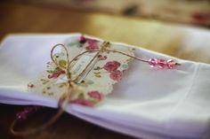 porta guardanapo tag de papel - boho -