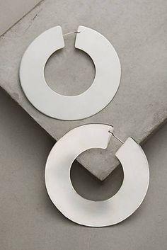 Silver Mondo Hoop Earrings
