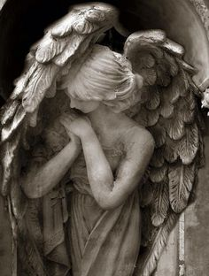 Angel Photography, Angel In Prayer, Guardian Angel Art Prints, Peaceful Praying Angel Print, Spiritual Angel Art Photo Prints or Note Cards Cemetery Angels, Cemetery Statues, Cemetery Art, Angels Among Us, Angels And Demons, Statue Ange, Angel Prayers, I Believe In Angels, Ange Demon