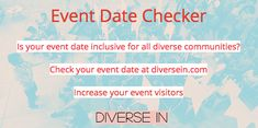3 Factors You Must Be Aware of When You Schedule the Event Date Celebration Day, You Must, Diversity, Factors, Schedule, Dating, Business, Timeline, Quotes
