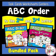 ABC Order to the 2nd and 3rd Letter is a Bundled Pack. It includes two task cards, worksheets, and centers. 4